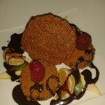 Croquettes de chocolat et kiwi panees au speculos