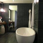 Andaz suite master bath, egg shaped tub