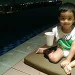 pool....my lovelly kid...