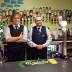 Adrian and Andy, the best barmen in Scotland