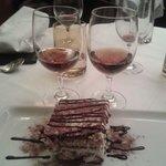Tiramisu avec du vin sucré