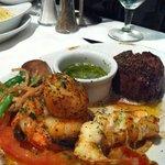 Carne com frutos do mar