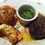 Combinaçao de frutos de mar com carne