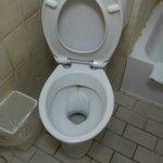 Schmutzige Toilette