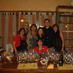 My family and the awesome cooks at Tenuta Torciano - felt like home