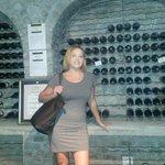 Kim in the Wine Cellar