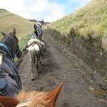 Riding to the Volcan Ruminahui, Pichincha, Ecuador