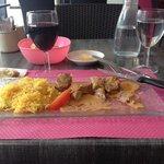 Brochette de porc au satay