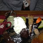 Amazing assiete of desserts!