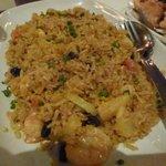 Rather geasy pineapple rice