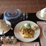 Phad Thai - a lunch snack ordered to our villa