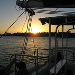 Repeak of sunset from rear of boat