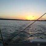 Ending of sunset