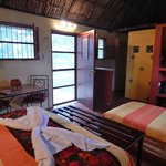 Inside a traditional Maya house with extra luxuries