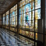 Beautiful wall of stained glass