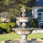 Gorgeous fountain in the front of the B&B