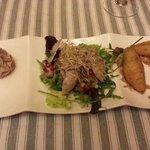 AppetizersÑ Manchego cheese, paté, quail salad, and croquetas