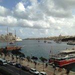 Malta Harbor from my 3rd floor balcony.