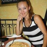 Spaghetti med rejer i vodka sauce