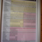 Bus schedules at the bus stop in Rinn (as in every stop of every bus)