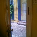 Room 106 - view looking out the door.