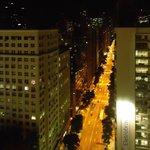 Vista da Cobertura do Hotel, Visão Avenida Rio Branco