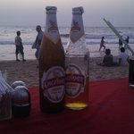 The best way to enjoy the sunset on Baga Beach!!