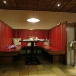 Restaurant is a combination of tables and booths.