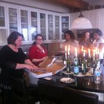Owner Annette serving our retreat