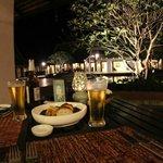 cena con vista sul laghetto