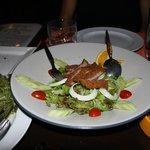 Salat med stegt andebryst