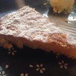 Almond Tart with Vanilla ice cream