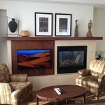Tv and Fireplace Side by Side