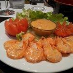 Des  délicieuses  crevettes et surtout la sauce