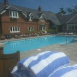 Lovely swimming pool and loungers