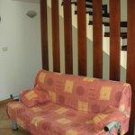 Divano-letto del soggiorno
