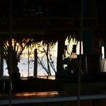 beach bar during sunset