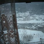 Panorama invernale dietro al pizzo