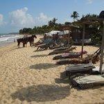 UXUA beach facilities on the Atlantic