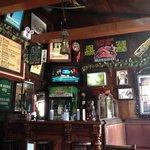 Fun pub setting, nice memorabilia and funny joke frames as well...