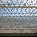 View of the mountains from inside Biosphere 2