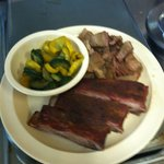 Smoked Meat combo(ribs & brisket) with Grilled Veggies