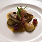 Pan fried Foie Gras with caramelized pear