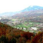 View toward Salzburg Austria from Hallein Salt Mines