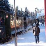 蒸汽火車,從Brocken山上下來,途中停留的一站