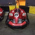 One of the karts