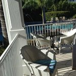 Outdoor dining area for Tiki bar and breakfast