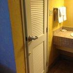 The bathroom door.