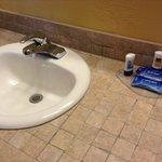Vanity - tiled.  I love the tile