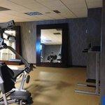 Inside fitness center